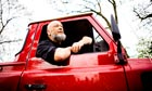 Michael Eavis, founder of Glastonbury Festival, in his Land Rover.