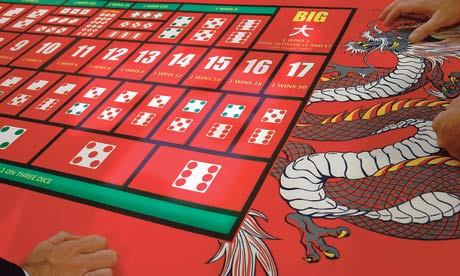 Gaming table with Chinese dragon