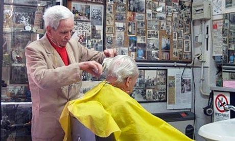 Gaetano Bordoni barber shop, Via Caetani, Rome