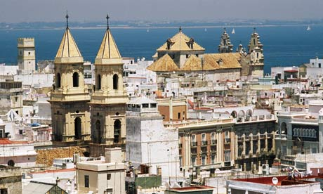 Cadiz old quarter from Torre Tavira