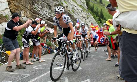 Frank and Andy Schleck and Contador