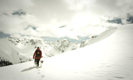 Snowboarding on Silverton Mountain
