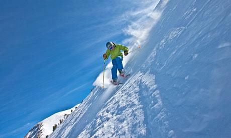Skiing in Telluride, Colorado.