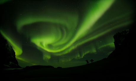northern lights in North of the Sun