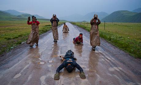 Devout pilgrims, Tibet