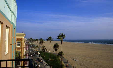 View from Cadillac Hotel Venice Beach Los Angeles California USA