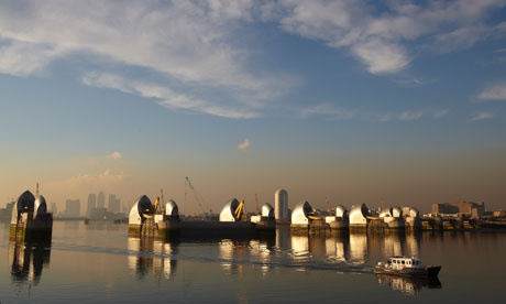 The Thames barrier, London