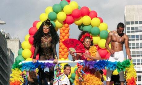 Gay Pride parade in São Paulo, Brazil Gay Pride parade in São Paulo.