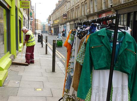 Green street scene