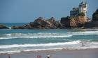 Cote des Basques beach, Biarritz, France.