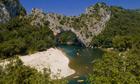 Gorge-ous … kayaking through Vallon-Pont-d'Arc on the Ardèche river.