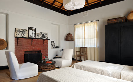 One of the bedrooms at Satyagraha House, Johannesburg.