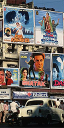 Bollywood posters in Bombay