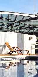 Deckchair by the pool, Claris Hotel, Barcelona