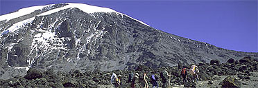 Trekkers on Mount Kilimanjaro