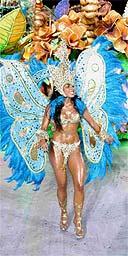 Butterfly woman, Rio Carnival