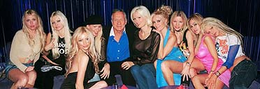Hugh Hefner and friends party at the Standard Hollywood