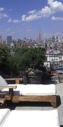 The roof terrace of 60 Thompson, New York