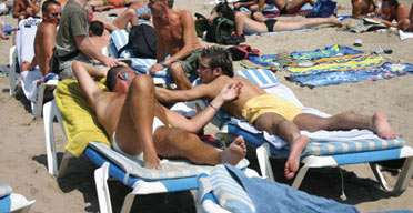 Sitges attracts gay holidaymakers from all over Europe
