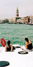 Tom Robbins's friends sail in to Venice