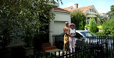 Sandra Harris and her husband in Apollo Bay, Australia