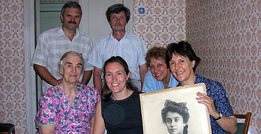 Marina Lewycka with her Ukrainian family