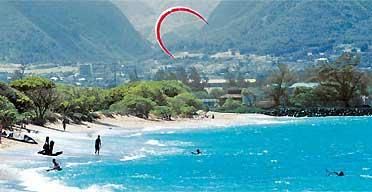 Kite surfing Maui