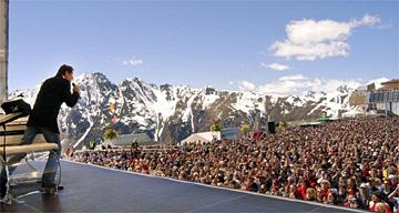 Concert in Ischgl, Austria