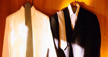 Escape: hanging suits