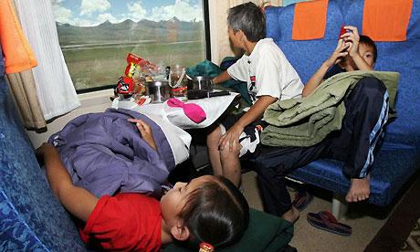 Train ride, Golmud to Lhasa, China