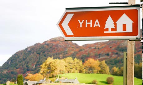 Youth Hostel sign in the Lake District