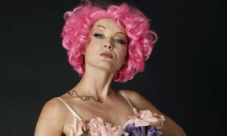 A burlesque dancer