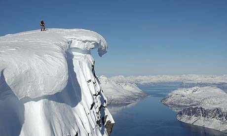A snowy Lyngen in Norway
