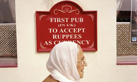 Southall's Glassy Junction pub: the first in the UK to accept ruppees.