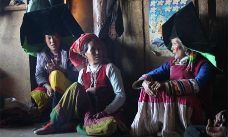 Unexplored China ... Yee village women. Photograph: Sophie Carr