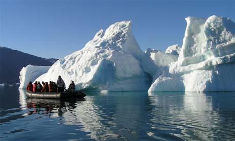 译者:caoti 全球变暖导致开辟东北油轮航线 俄罗斯北极圈内的冰川图片