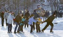 Moscow: skaters in Gorky Park