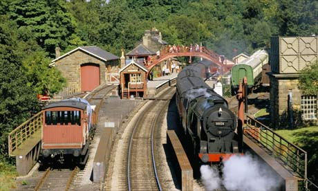 Train on North Yorkshire Moors Railway