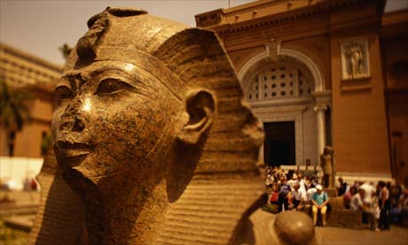 Pharaoh Statue at the Egyptian Museum, Cairo