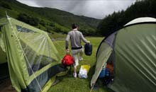 Camping at Stonethwaite campsite, Borrowdale, Lake District