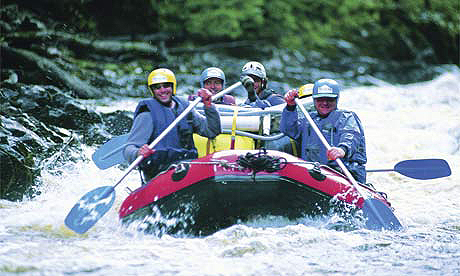 Rafting the Franklin River in Tasmania