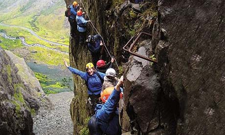 Honister via ferrata, the Lake District