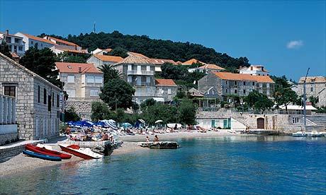 Korcula town beach, Croatia