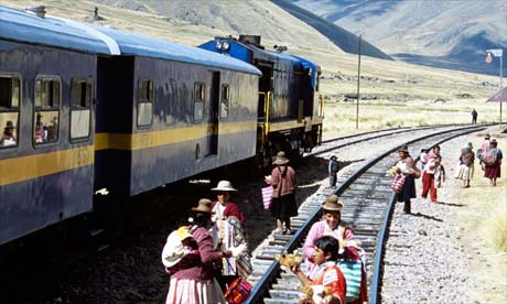 The train from Puno to Cuzco, Peru