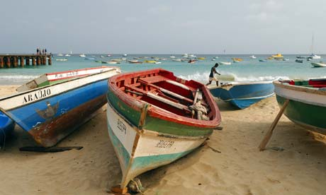 A beach on Sal Island, Cape Verde