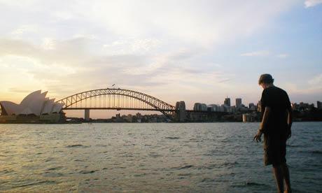 Sydney harbour bridge from Mrs Macquarie's Chair