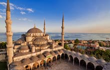 Courtyard of Blue Mosque, Istanbul, Turkey