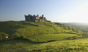 Carreg Cennen Castle in Carmarthenshire, Wales