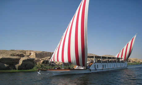 Houseboat on the NIle, Egypt