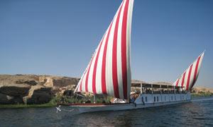 Houseboat on the NIle, Egypt